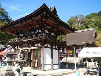観菩提寺の楼門と正月堂.jpg